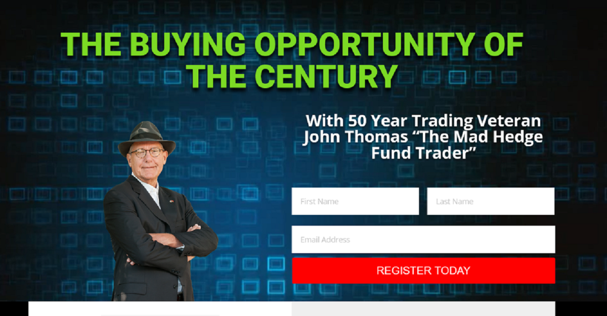 The Buying Opportunity of the Century: John Thomas The Mad Hedge Fund Trader Webinar