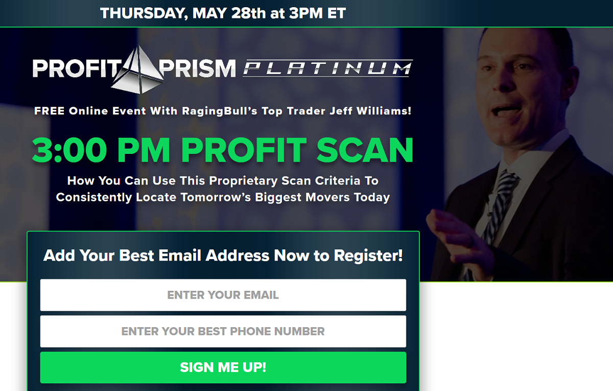 Jeff Williams 3PM Profit Scan: FREE Online Event With RagingBull's Top Trader Jeff Williams