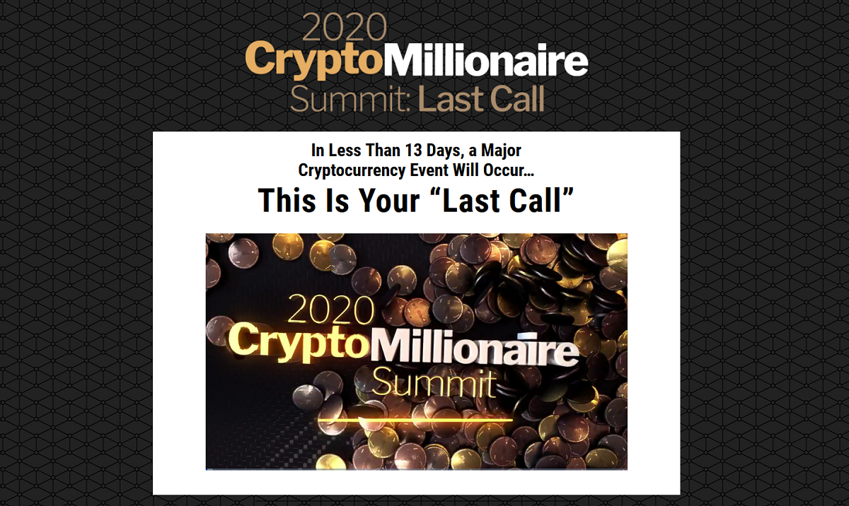 Matt McCall's Ultimate Crypto: Crypto Millionaire Summit Replay