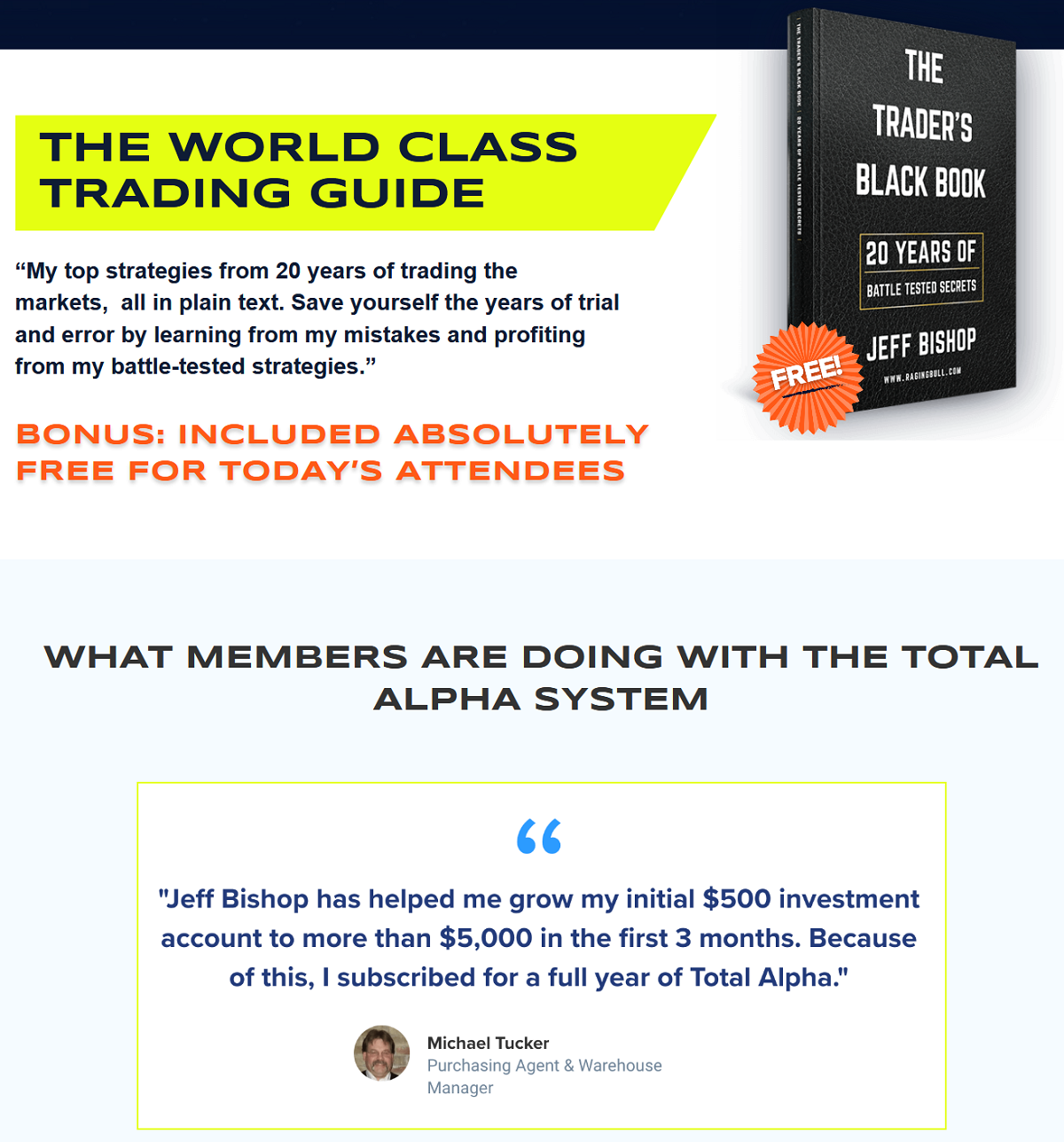 Options Masterclass Training Session - Jeff Bishop Total Alpha Trading