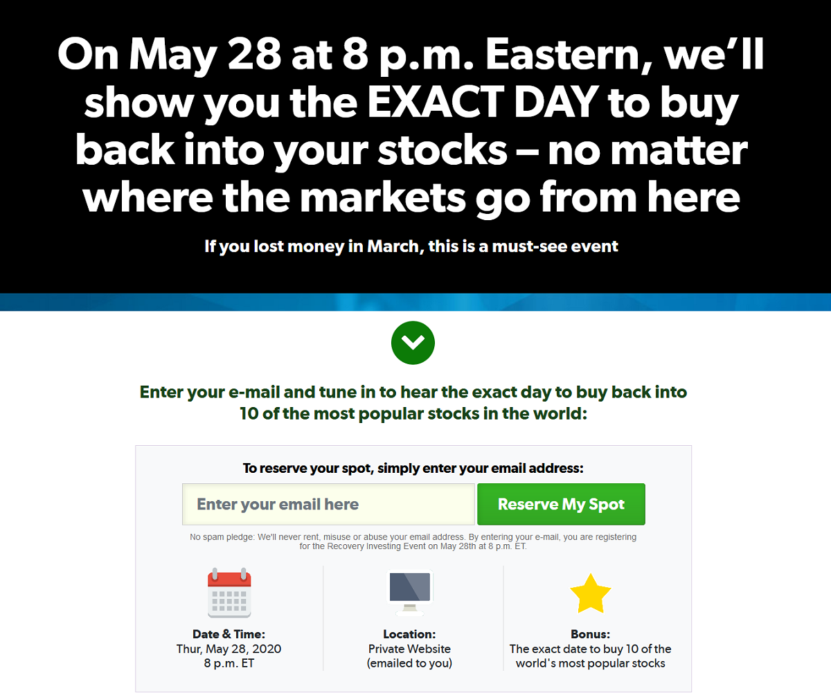 Whitney Tilson's Recovery Investing Event: Get Online Event Details