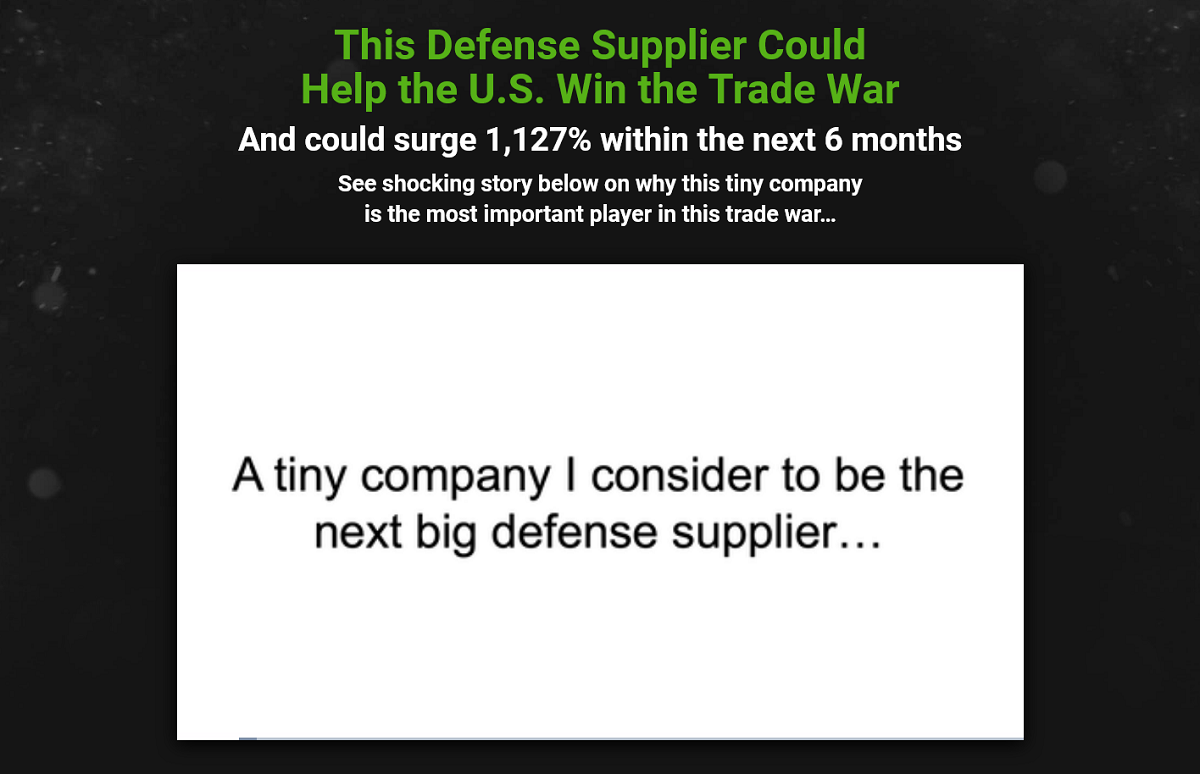 "Nick Giambruno's Tiny ""defense supplier"": Crisis Investing Research Report"