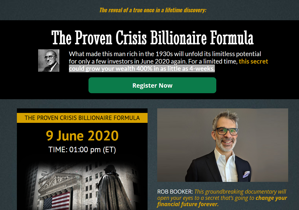 The Proven Crisis Billionaire Formula Broadcast with Dr. Bauer