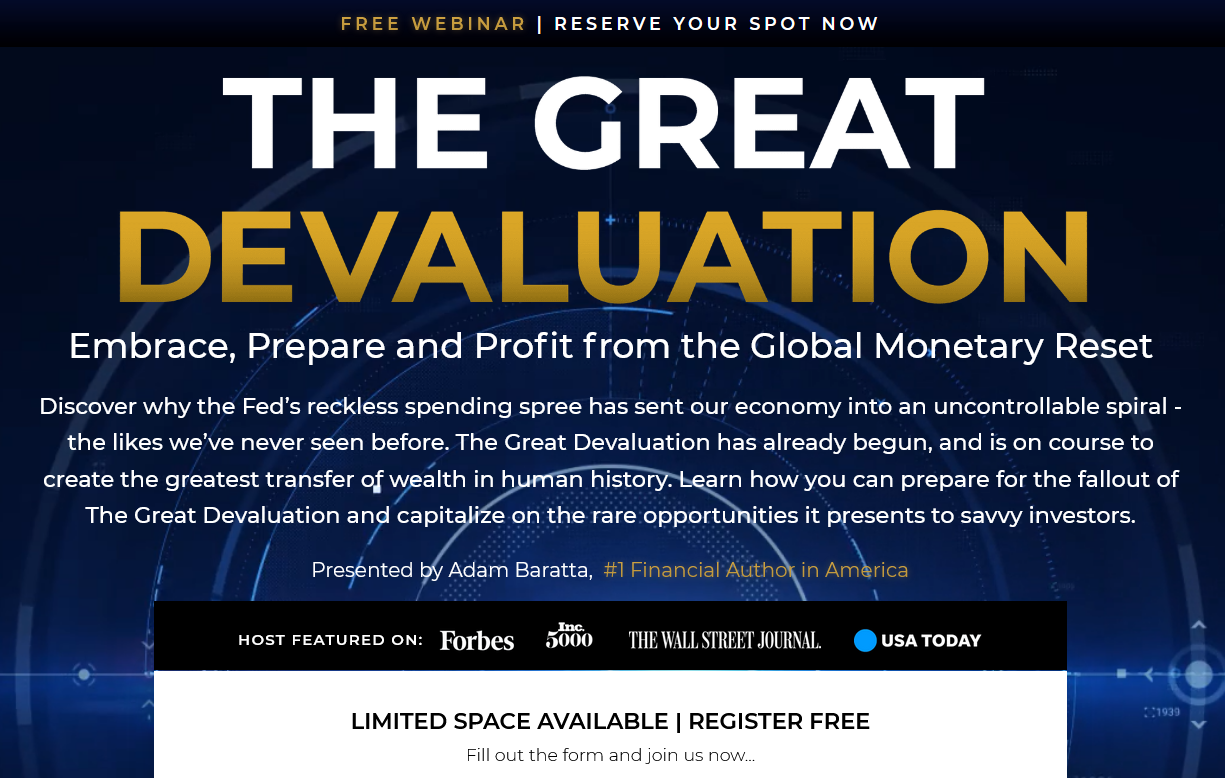Adam Baratta Great Devaluation Review