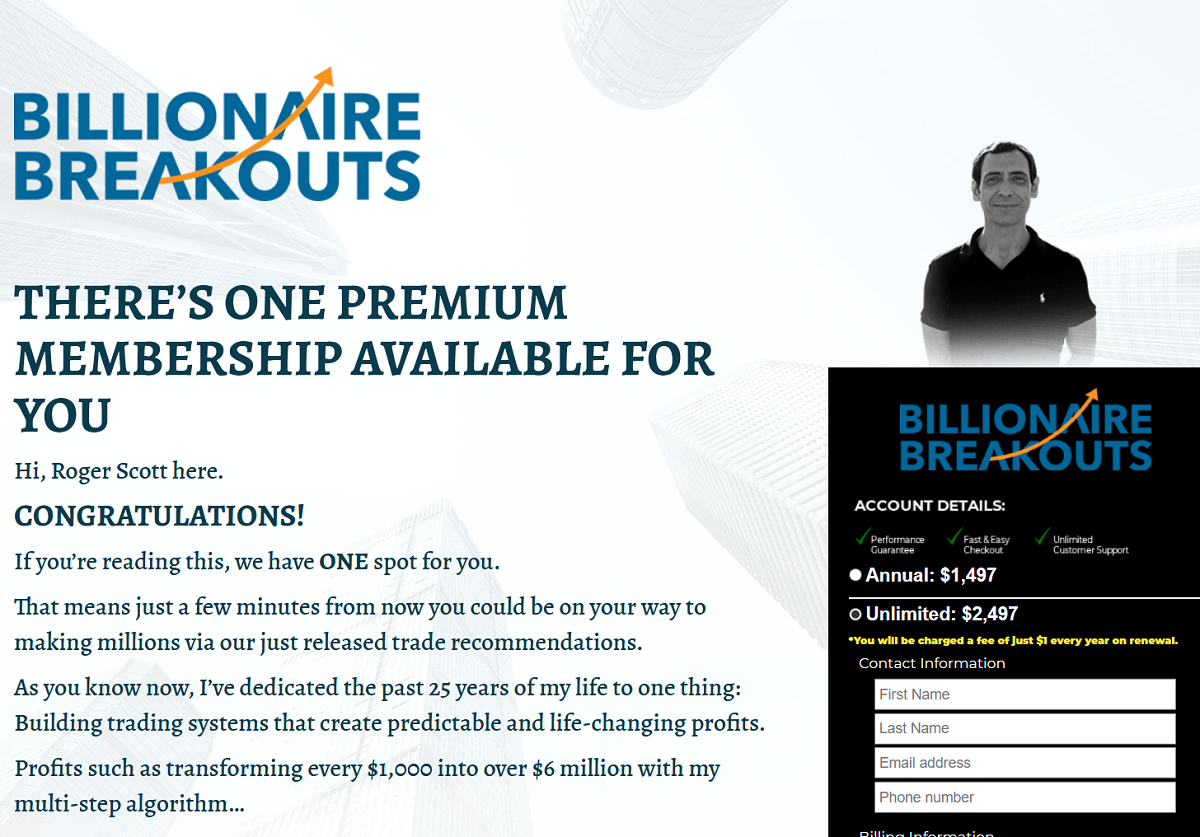 Roger Scott's Billionaire Breakouts Review – Is It Legit?