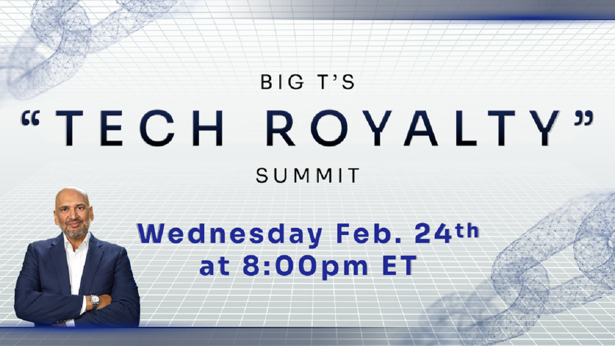 Tech Royalty Summit by Teeka Tiwari: Investors Can Generate Massive Income From Royalties