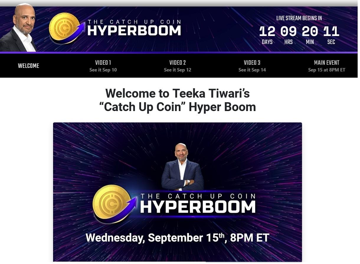 What Are Teeka Tiwari's Catch Up Coins - Hyper Boom Portfolio
