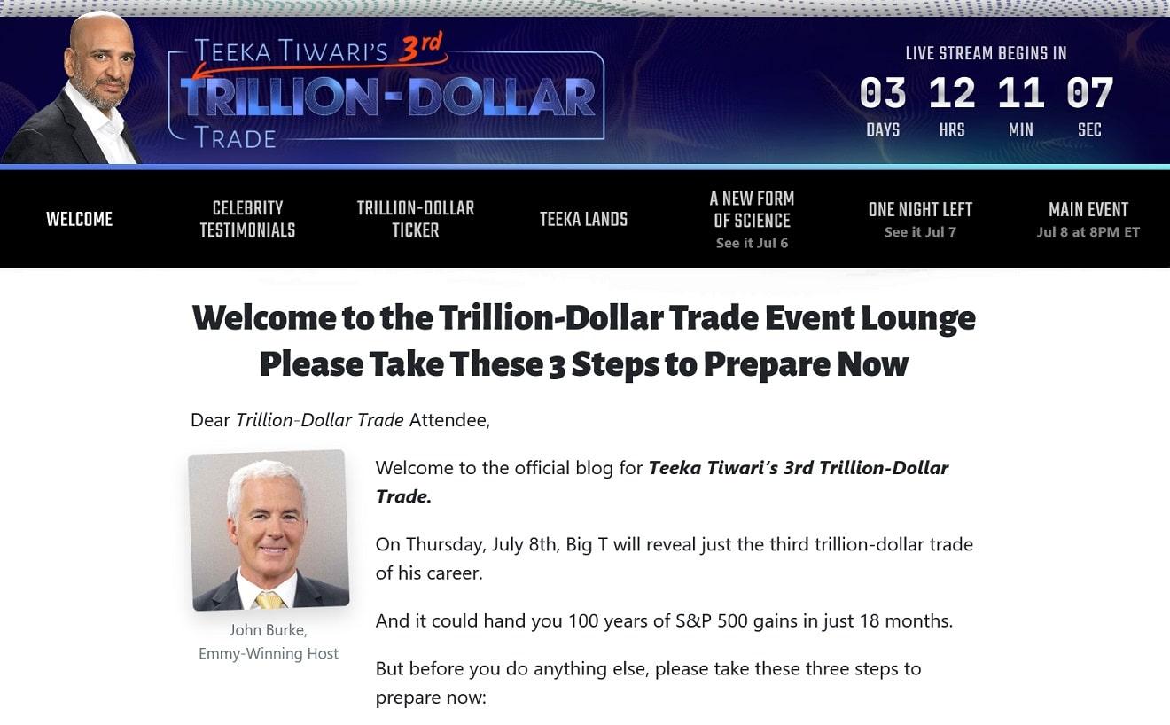 Teeka Tiwari's 3rd Trillion Dollar Trade Review